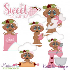 Sugary Sweet Gingers Exclusive SVG Cutting Files + Clipart