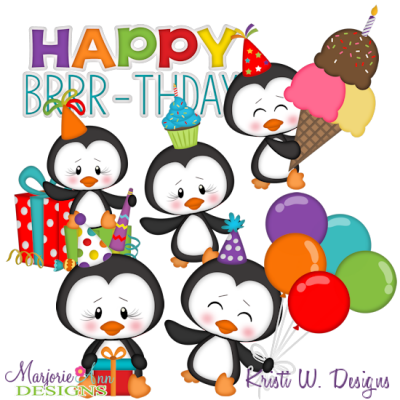 Happy Brrr-thday SVG Cutting Files Includes Clipart