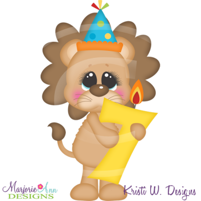 Party Animal 7th Birthday Cutting Files-Includes Clipart