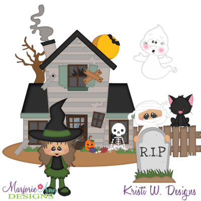 Spooky Friends SVG Cutting Files Includes Clipart