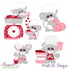 Baking Up Some Love Cutting Files-Includes Clipart