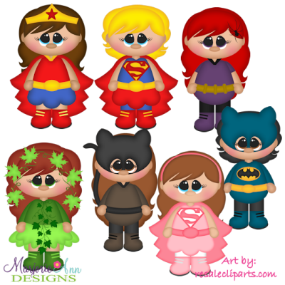 Super Girls Exclusive SVG Cutting Files Includes Clipart