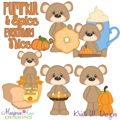 Pumpkin Spice & Everything Nice SVG Cutting Files + Clipart