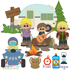 Camping Trip 2 SVG Cutting Files + Clipart