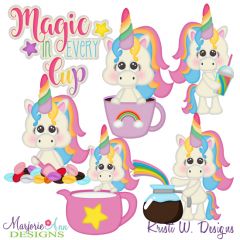 Magic In Every Cup SVG Cutting Files Includes Clipart