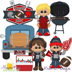 Tailgate Party SVG Cutting Files + Clipart