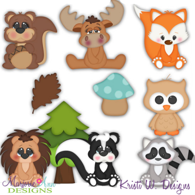 Woodland Babies SVG Cutting Files Includes Clipart