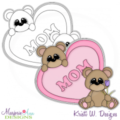Mom Bears Digital Stamp + Clipart