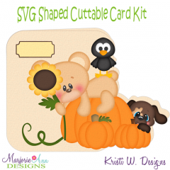 Hanging Out At The Patch~Shaped SVG/MTC Card Kit/Cutting File