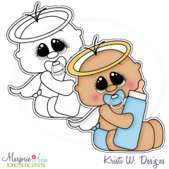 Our Little Angel~Boy Digital Stamp + Clipart