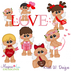 Chubby Cupids SVG Cutting Files Includes Clipart