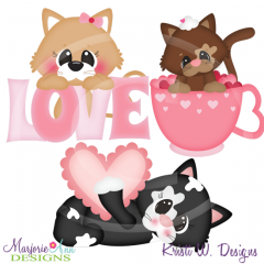 Purfect Valentine SVG Cutting Files+Clipart