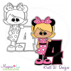 A Very Minnie 4th Birthday Exclusive Digital Stamp + Clipart