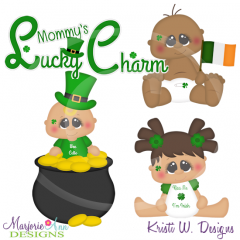Mommy's Lucky Charm Cutting Files-Includes Clipart