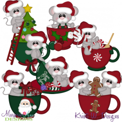 Oh Christmas Tea SVG Cutting Files + Clipart