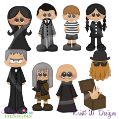 The Haunting Family SVG Cutting Files Includes Clipart