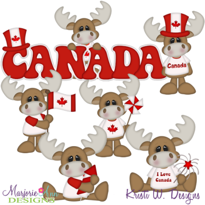Happy Canada Day SVG Cutting Files + Clipart