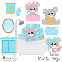 Squeaky Clean Mice SVG Cutting Files Includes Clipart