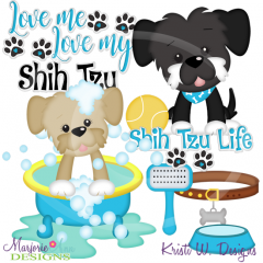 Love Me Love My Shih Tzu-Boy Exclusive SVG Cutting Files+Clipart