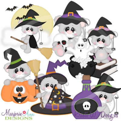 Spooky Squeaks SVG Cutting Files Includes Clipart