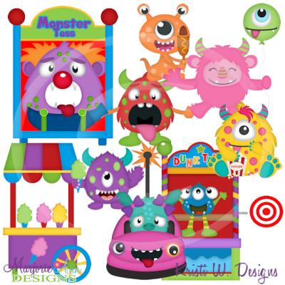Monster Carnival Exclusive SVG Cutting Files + Clipart