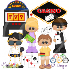 Vegas Vacation SVG Cutting Files Includes Clipart