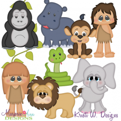 Jungle Life SVG Cutting Files Includes Clipart