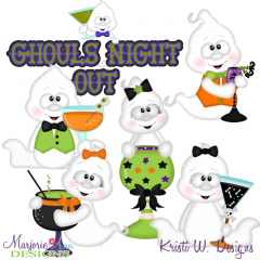 Ghouls Night Out SVG Cutting Files + Clipart