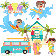 Gone Surfing SVG Cutting Files + Clipart
