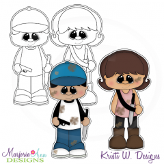 The Walking Cute-Set 4 Exclusive Digital Stamps + Clipart