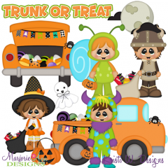 Trunk Or Treat SVG Cutting Files Includes Clipart