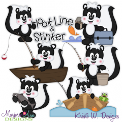 Hook Line & Stinker SVG Cutting Files Includes Clipart