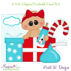 Christmas Baby~Shaped SVG/MTC Card Kit/Cutting File