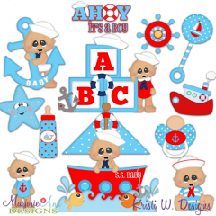 Ahoy It's A Boy SVG Cutting Files + Clipart