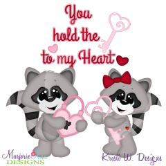 You Hold The Key To My Heart Racoons Cutting Files+Clipart