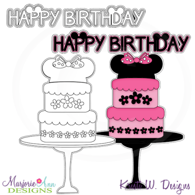 A Very Minnie Birthday Exclusive Digital Stamps + Clipart
