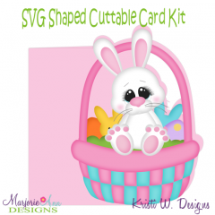 Hoppy Easter~Shaped SVG/MTC Card Kit/Cutting File