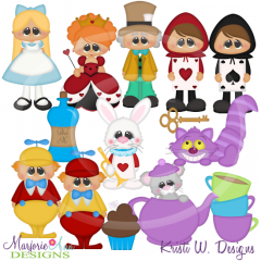 Wonderland SVG Cutting Files Includes Clipart