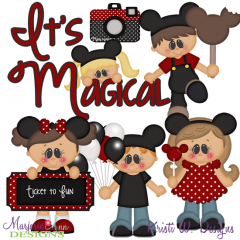 Magical Vacation SVG Cutting Files Includes Clipart