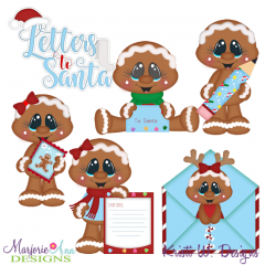 Letters To Santa-Gingers SVG Cutting Files Includes Clipart