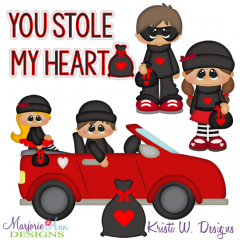 You Stole My Heart SVG Cutting Files + Clipart