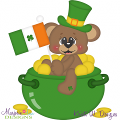 Lucky Bear SVG Cutting Files Includes Clipart