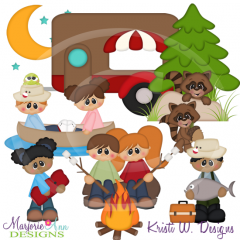 Camping Trip SVG Cutting Files Includes Clipart