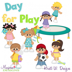 Day For Play SVG Cutting Files + Clipart