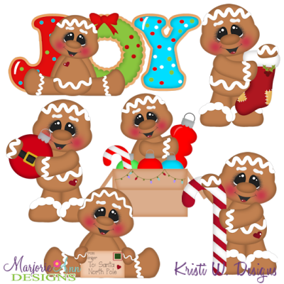 12 Gingers Of Christmas-Set 1 SVG Cutting Files Includes Clipart