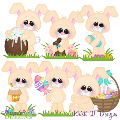 Bunnys Basket SVG Cutting Files + Clipart