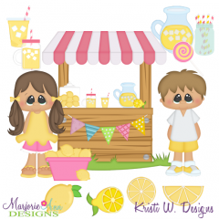 Lemonade Stand SVG Cutting Files + Clipart