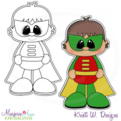 Little Super Hero 3 Digital Stamp + Clipart