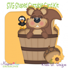 Nuts About You~Shaped SVG/MTC Card Kit/Cutting File