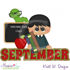 September Title SVG Cutting Files Includes Clipart